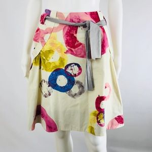 Anthropologe FEI Skirt Size 8 Full A-Line Belted
